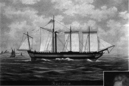 """Το ατμόπλοιο """"Καρτερία"""" έπιασε τελικά ελληνικό λιμάνι το Σεπτέμβρη του 1826 σε κακή κατάσταση.*"""