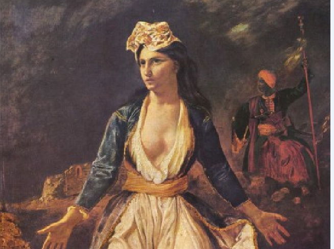 «Greece on the ruins of Missolonghi» by Eugène Delacroix.