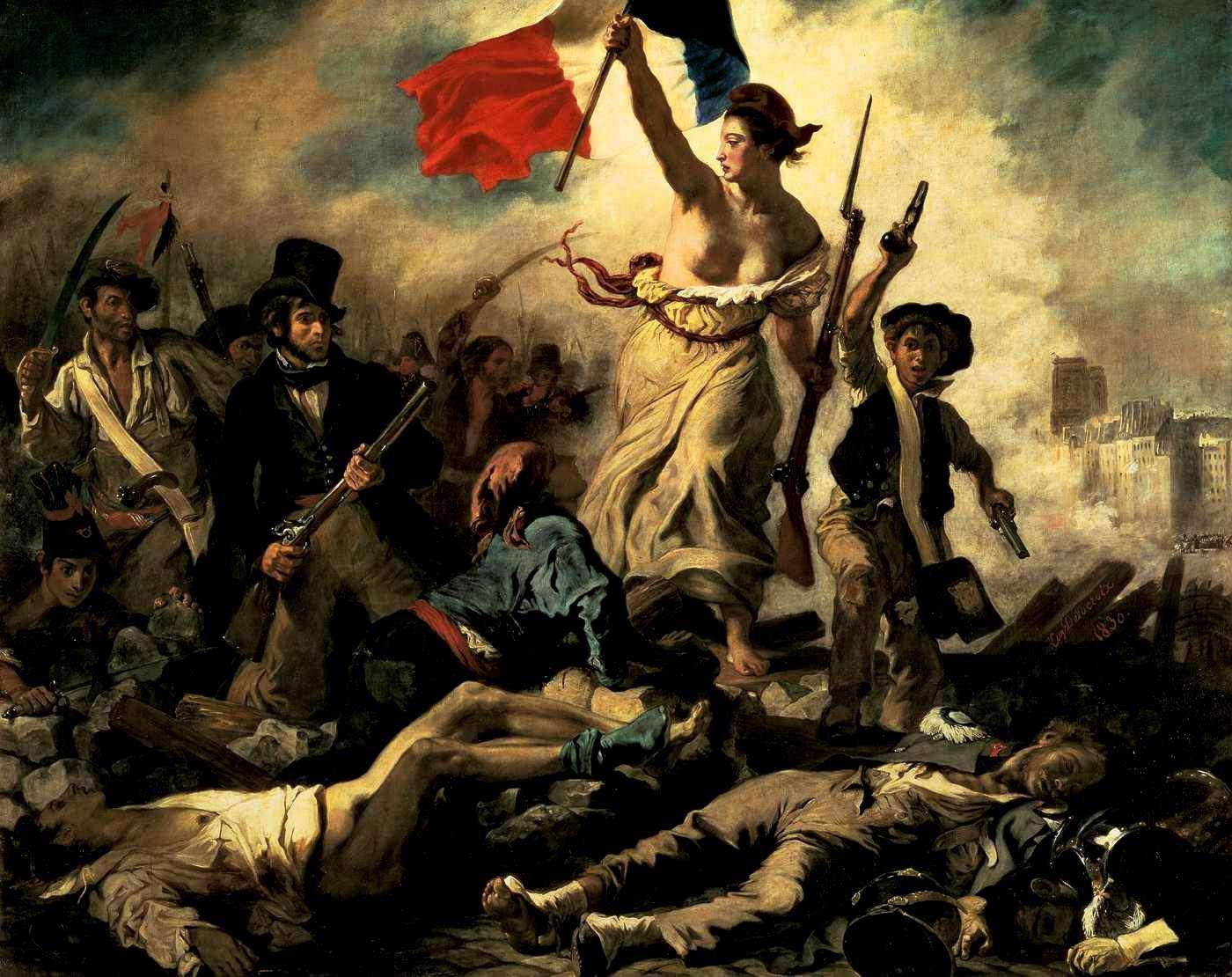 """Ευγένιος Ντελακρουά:""""Η Ελευθερία οδηγεί το Λαό"""""""