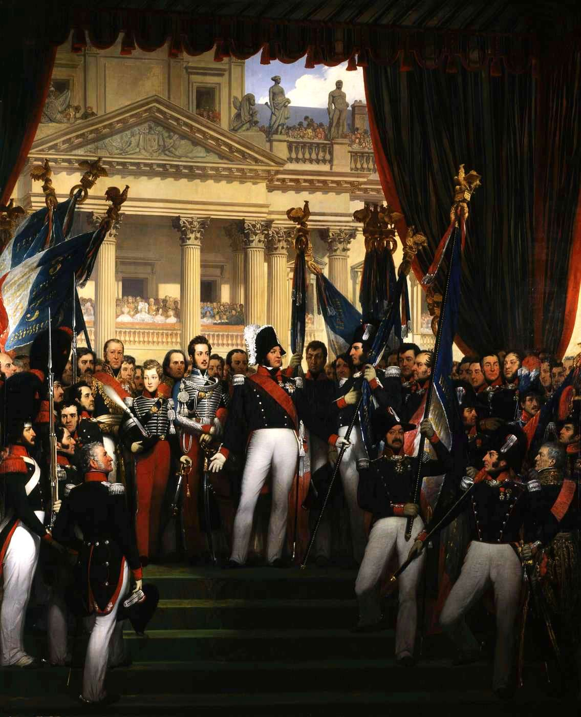 Louis Philippe I giving flags to the National Guard of Paris (1830)
