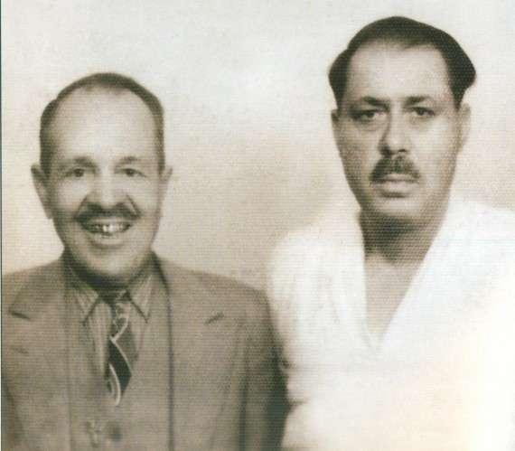Ο Γιώργος Μπάτης με τον Μάρκο Βαμβακάρη