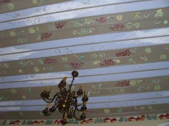 Λεπτομέρεια ,από ζωγραφική παράσταση σε οροφή!