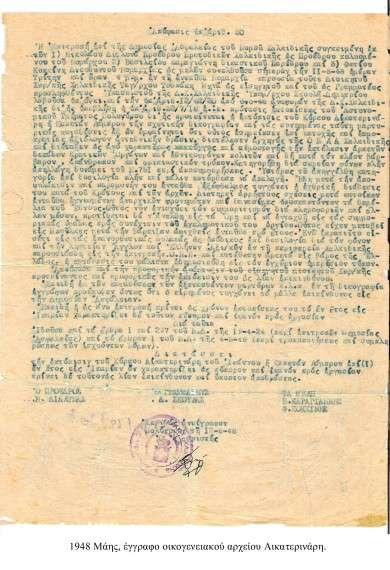 1948, έγγραφο εκτόπισης