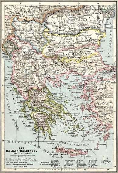Τα Βαλκάνια πριν από τον Πρώτο Βαλκανικό Πόλεμο