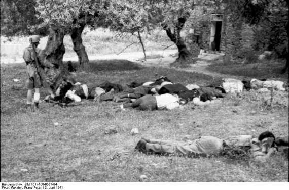 Εκτελεσμένοι κάτοικοι του χωριού Κοντομαρί από Γερμανούς στρατιώτες (Ιούνιος 1941)