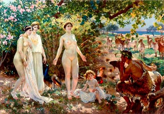 The Judgment of Paris (1904) by Enrique Simonet
