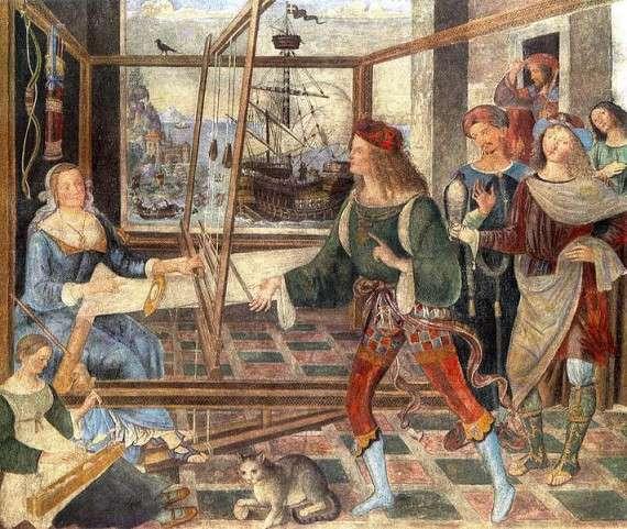 Πιντουρίκκιο, Η Πηνελόπη και οι μνηστήρες (Λονδίνο, Εθνική Πινακοθήκη)