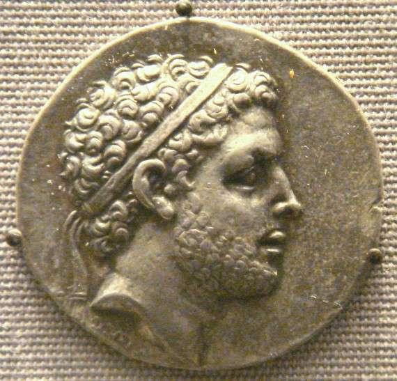 Νόμισμα με τη μορφή του Περσέα στο Βρετανικό Μουσείο.