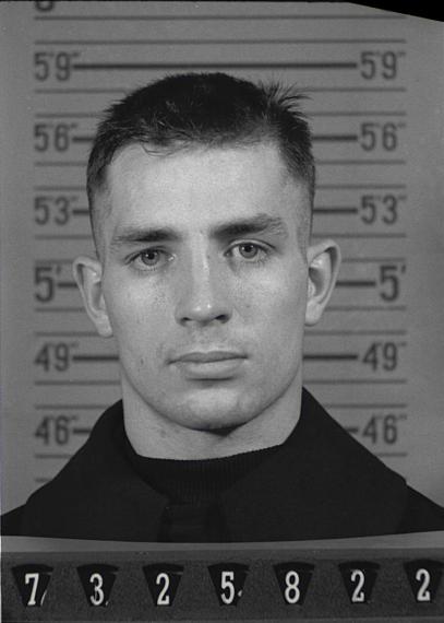 Kerouac's Naval Reserve Enlistment mugshot, 1943.