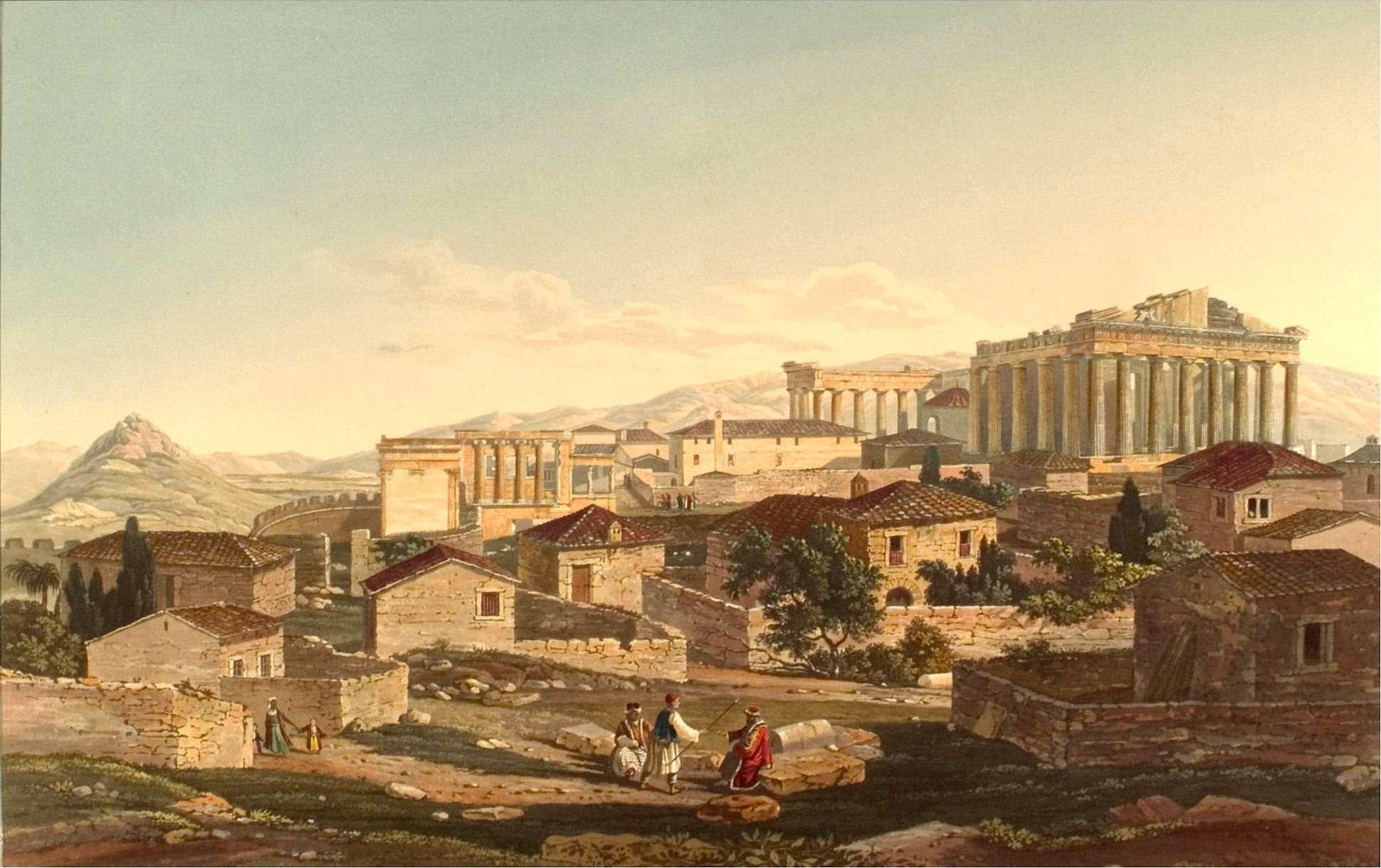 Αθήνα, ο Παρθενώνας στα 1821. Edward Dodwell: Views in Greece, London 1821