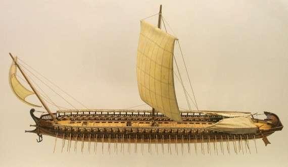 Μοντέλο αρχαίας ελληνικής τριήρους, Deutsches Museum, Μόναχο, Γερμανία.