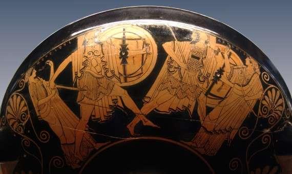 Η μονομαχία του Μενέλαου με τον Πάρη είναι κύλιξ με αγγειογραφία Ομηρικού θέματος που φιλοξενείται στο Μουσείο του Λούβρου.