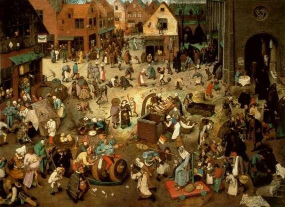 Pieter Brueghel l'Ancien | Le Combat de Carnaval et Carême | 1559