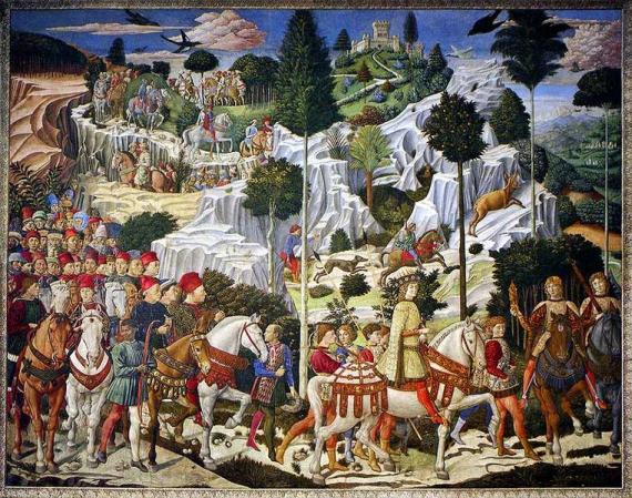 Η οικογένεια των Μεδίκων σε πίνακα του Benozzo Gozzoli,1459.