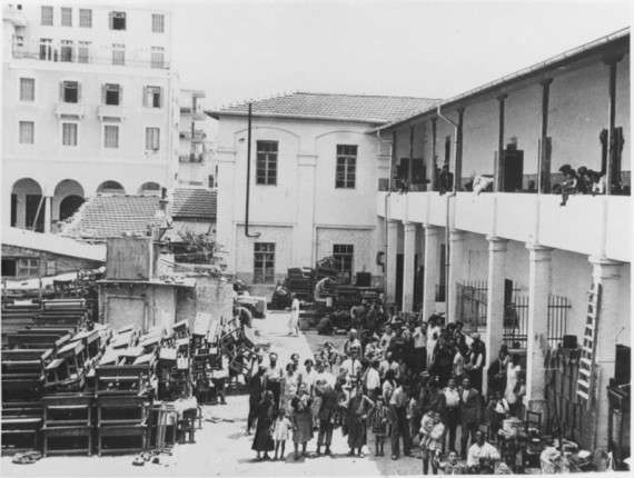 Θεσσαλονίκη,, εβραικός συνοικισμός κοντά στην πλατεία Αριστοτέλους