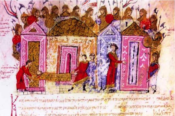 Βάραγγοι του 11ου αιώνα από την εικονογράφηση του Ιωάννη Σκυλίτζη