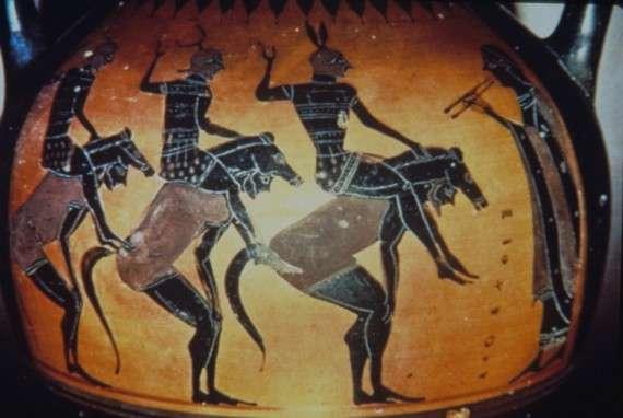 Χορός Ιππέων σε αγγειογραφική αναπαράσταση
