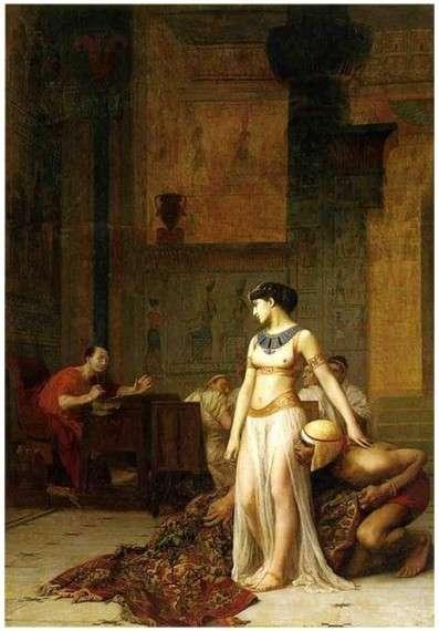 Cleopatra and Julius Caesar. Painting by Jean-Léon Gérôme