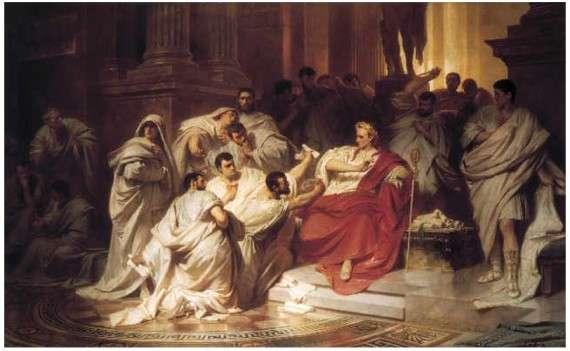 O θάνατος του Καίσαρα (Carl Theodor von Piloty 1865.