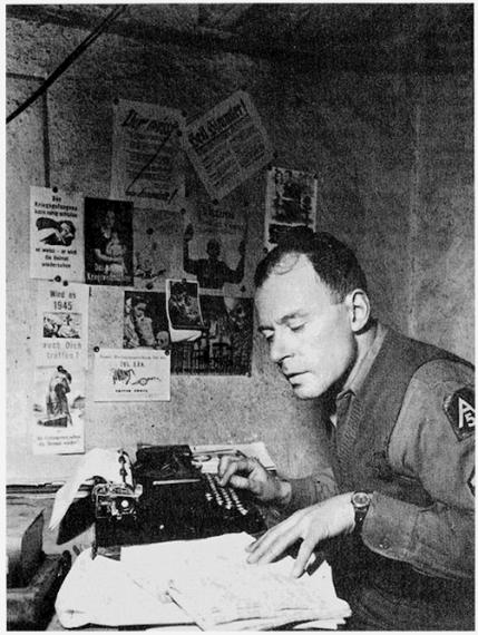 Ο Klaus Mann, ως Επιλοχίας του Αμερικάνικου Στρατού, Ιταλία 1944