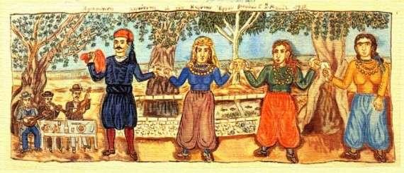 Θεόφιλος Χατζημιχαήλ, λαϊκή ζωγραφική