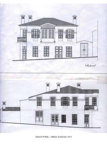 Πολύγυρος, σχέδιο οικίας