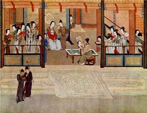 Ανοιξιάτικο πρωινό στο παλάτι, του QiuYing (1494–1552). Πολυτέλεια και παρακμή στην ύστερη περίοδο των Μινγκ.