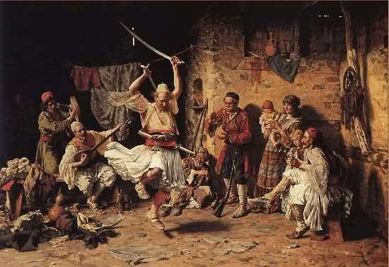 Χορός Αλβανών που επάνδρωναν τα ασκέρια του Αλή