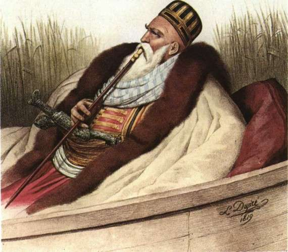 Ο Αλή Πασάς, λιθογραφία του L. Dupre