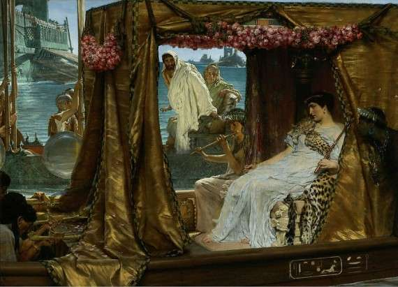Sir Lawrence Alma-Tadema (1883) Antony and Cleopatra