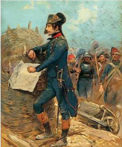 Bonaparte at the siege of Toulon