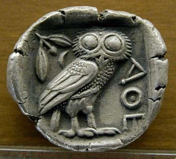 Αρχαίο αθηναϊκό τετράδραχμο, 5ος αι. π Χ.