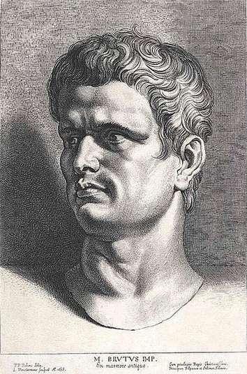 Stich nach Rubens: Marcus Iunius Brutus