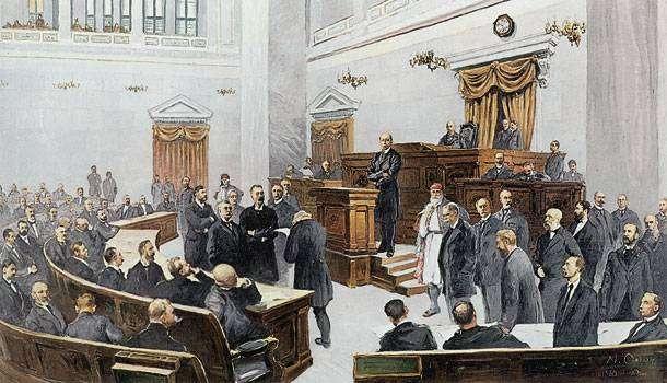 Ο Χ. Τρικούπης ανακοινώνει από το βήμα της Βουλής τη χρεοκοπία της Ελλάδας