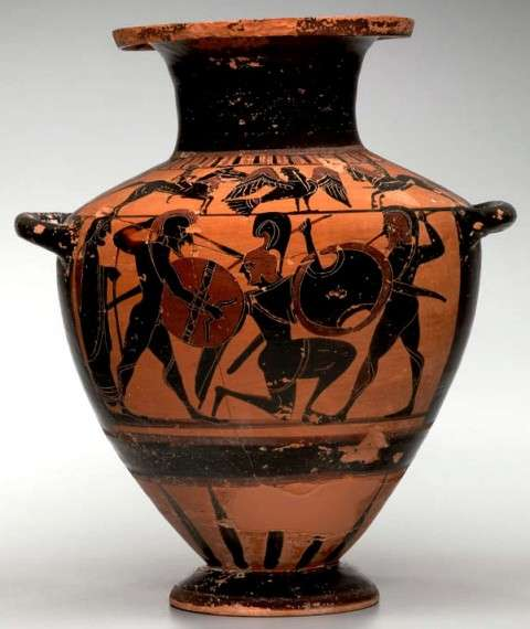 Attributed to the Tyrrhenian Group Greek, Attic About 560–550 BCE Terracotta 32.2 x 28.1 x 23.8 cm Yale University Art Gallery: Gift of Rebecca Darlington Stoddard, 1913; 1913.107