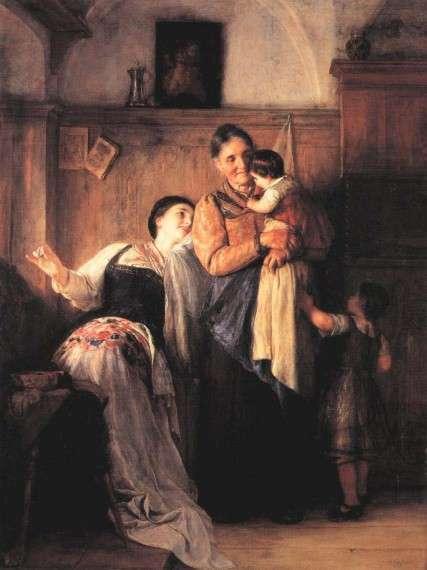 Νικόλαος Γύζης, Κου - Κου, 1882. Ελαιογραφία σε μουσαμά