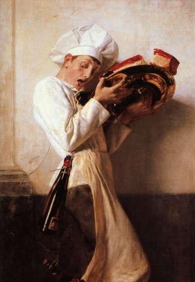 Νικόλαος Γύζης, Ο Ζαχαροπλάστης, 1898. Λάδι σε μουσαμά.