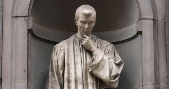 Άγαλμα του Νικολό Μακιαβέλι στη Φλωρεντία, της Ιταλίας