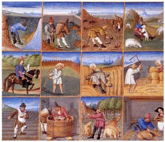 Αγροτικό ημερολόγιο της ύστερης μεσαιωνικής Ευρώπης.