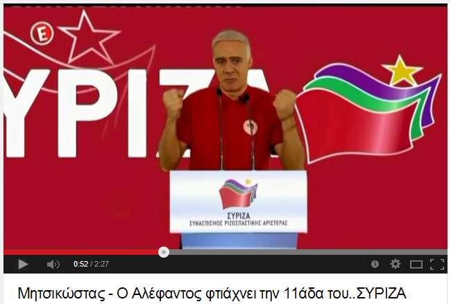 Μητσικώστας - Ο Αλέφαντος φτιάχνει την 11άδα του. ..ΣΥΡΙΖΑ