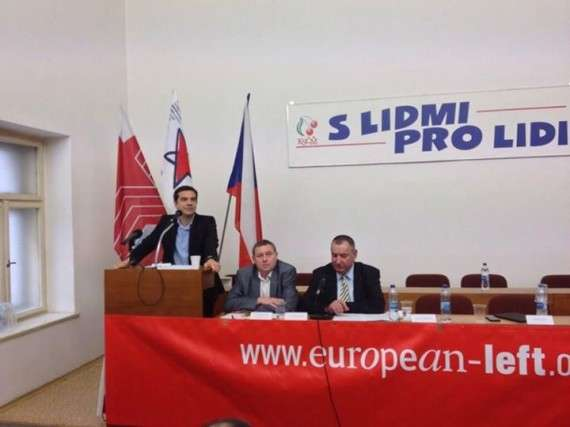 Ο πρόεδρος του ΣΥΡΙΖΑ και υποψήφιος του ΚΕΑ για την προεδρία της Κομισιόν, Αλέξης Τσίπρας