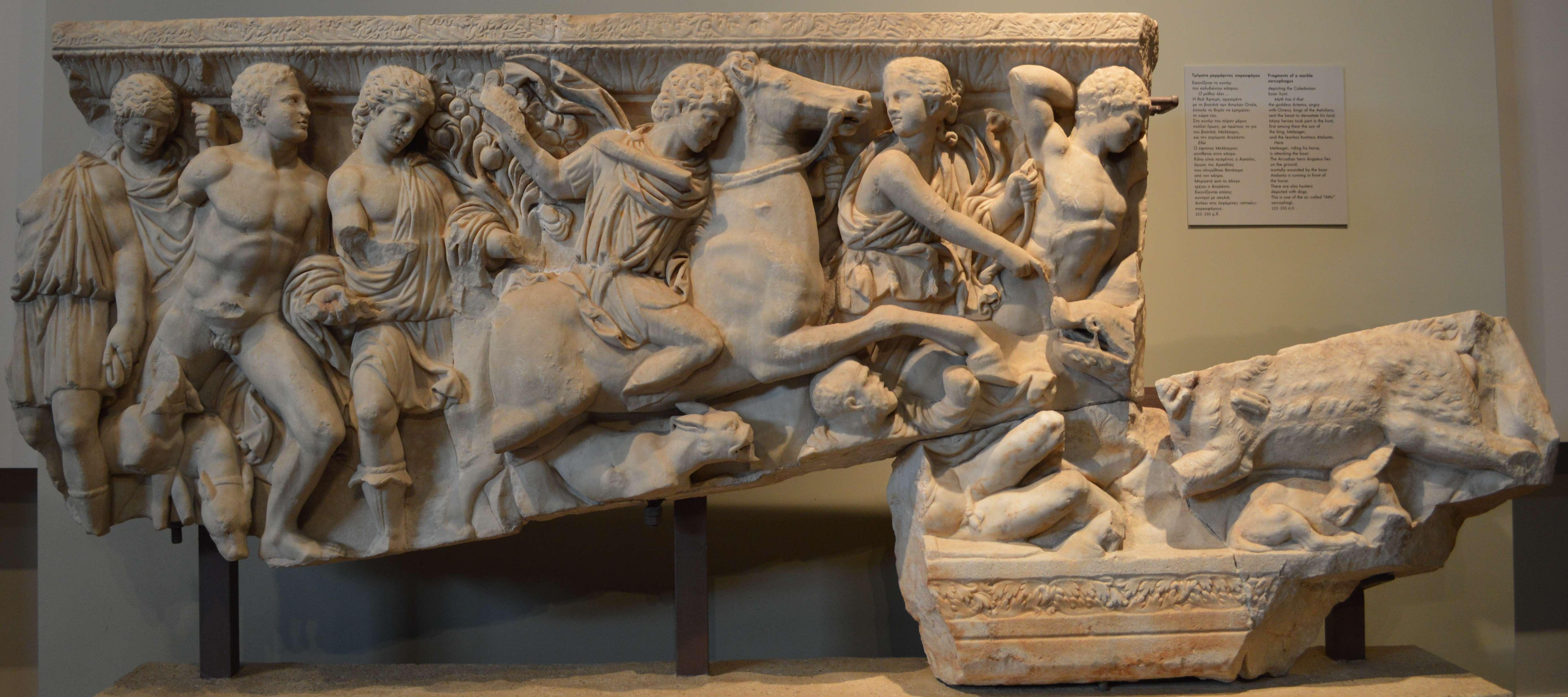 Μαρμάρινη σαρκοφάγος, 3ος αιώνας μ. Χ. Αρχαιολογικό Μουσείο Θεσσαλονίκης