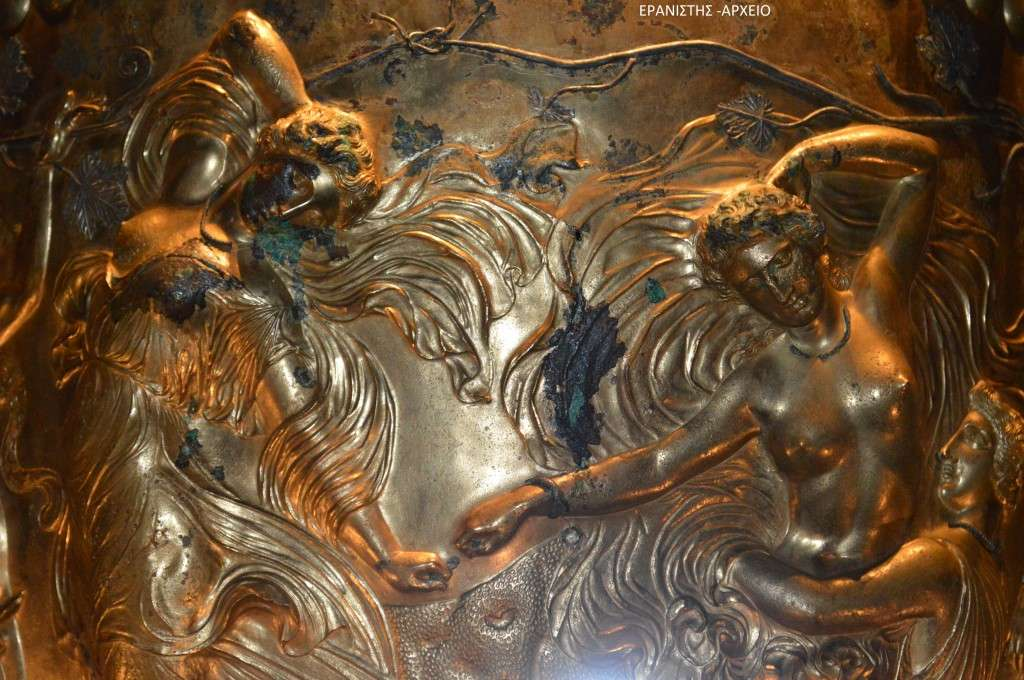Ο κρατήρας του Δερβενίου - Αρχαιολογικό Μουσείο Θεσσαλονίκης (λεπτομέρεια)