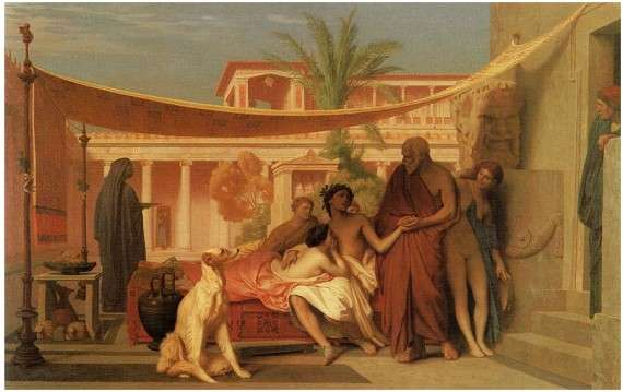 Socrates seeking Alcibiades in the house of Aspasia, 1861