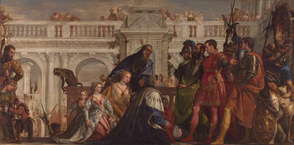 Η οικογένεια του Δαρείου μπροστά στον Αλέξανδρο. The Family of Darius before Alexander 1565-7, Paolo Veronese