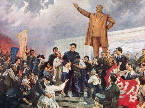 Ο Κιμ Γιονγκ Ιλ παρηγορεί το λαό μετά το θάνατο του πατέρα του. Κάποιοι ηλικιωμένοι πέθαναν από παρατεταμένο πένθος