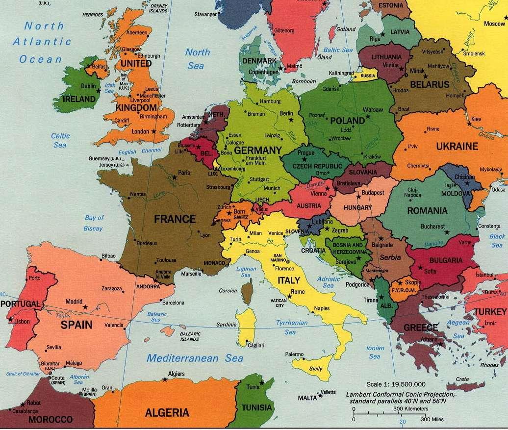 Χάρτης της Δυτικής Ευρώπης