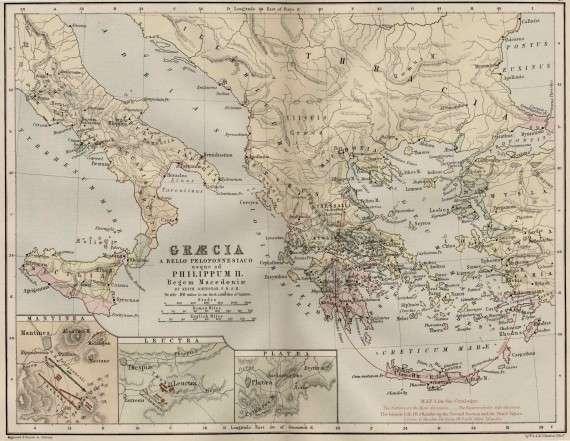 Χάρτης με τις αποικίες της αρχαίας Αθήνας. Map showing the colonies of ancient Athens
