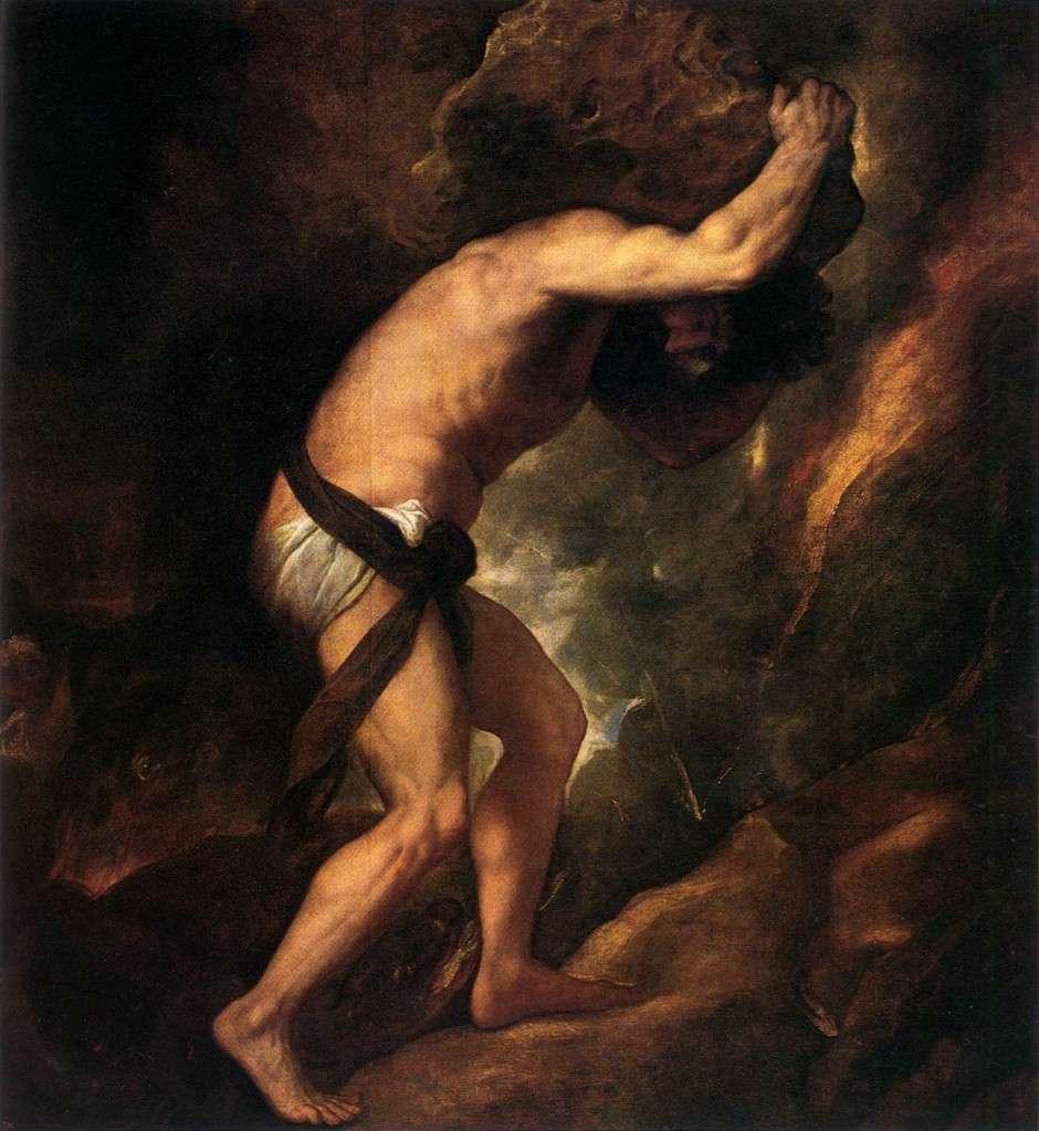 Sisyphus. Tiziano Vecellio (1548-1549)