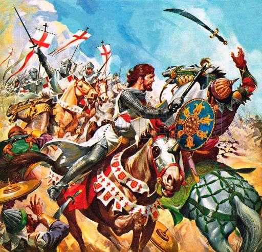 Ο Ριχάρδος ο Λεοντόκαρδος στην πρώτη Σταυροφορία.